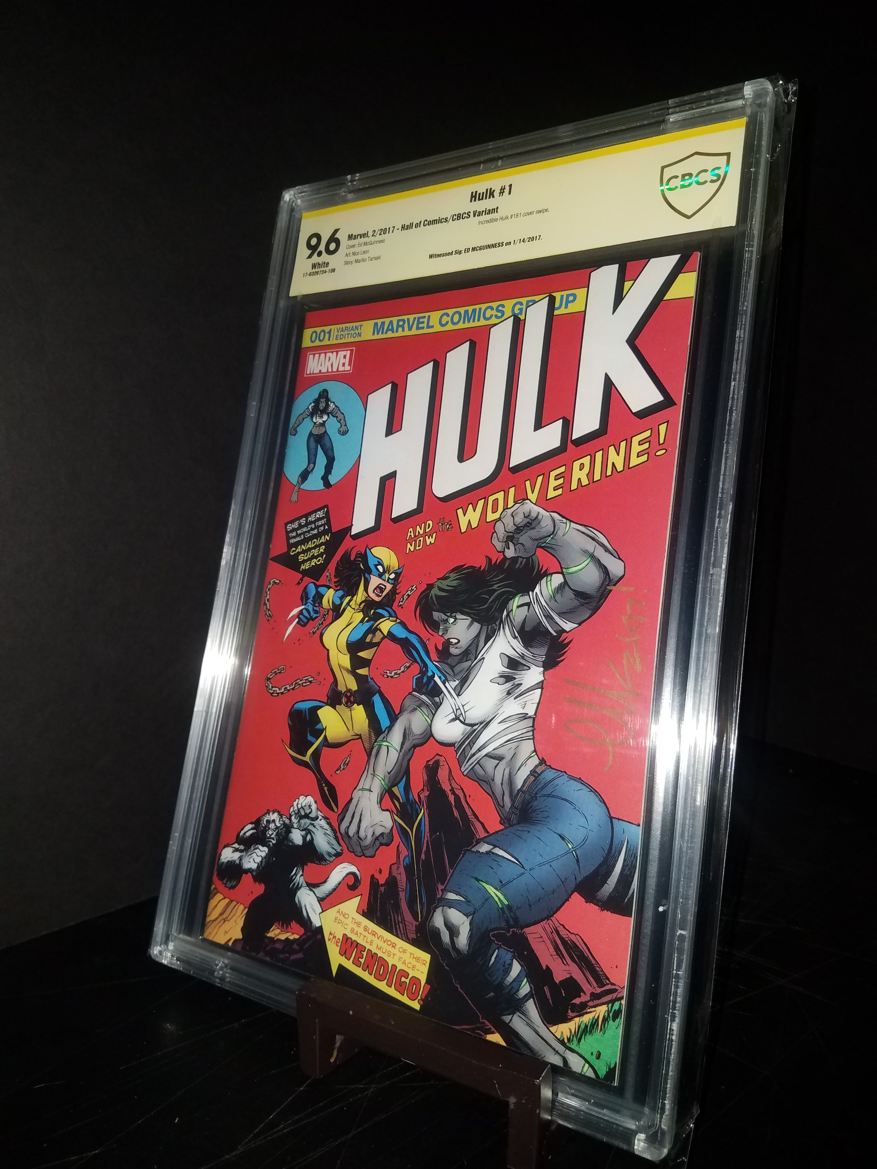 Hulk #1 Cover A CBCS 9.6 WP SS Ed McGuinness