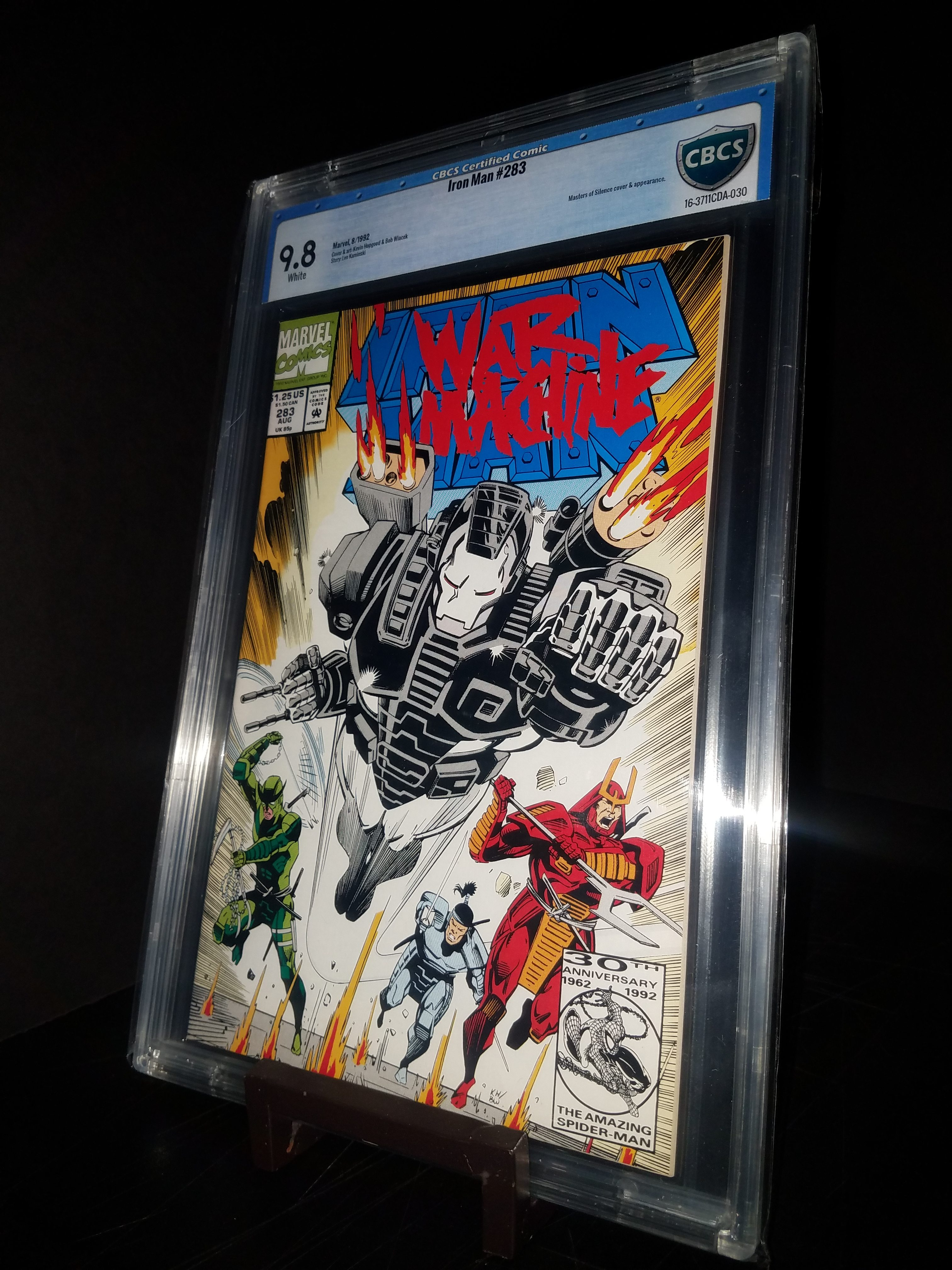 Iron Man #283 CBCS 9.8 WP 2nd War Machine