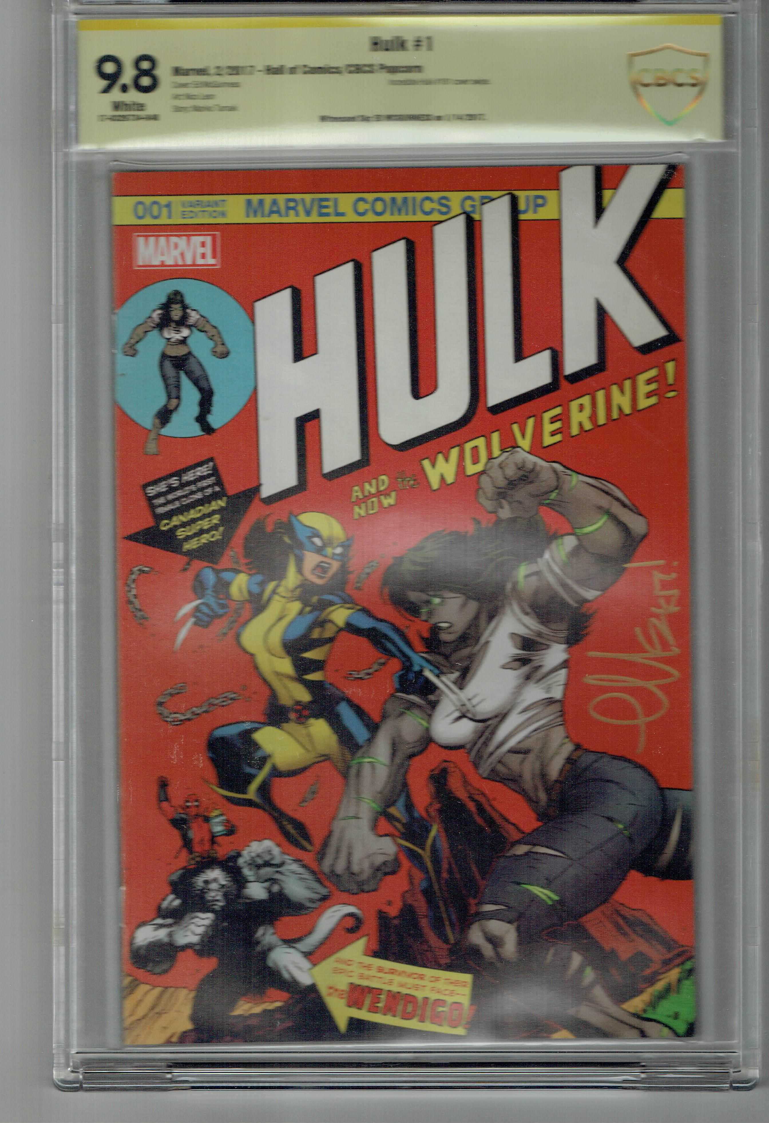 Hulk #1 Cover C CBCS 9.8 WP SS Ed McGuinness