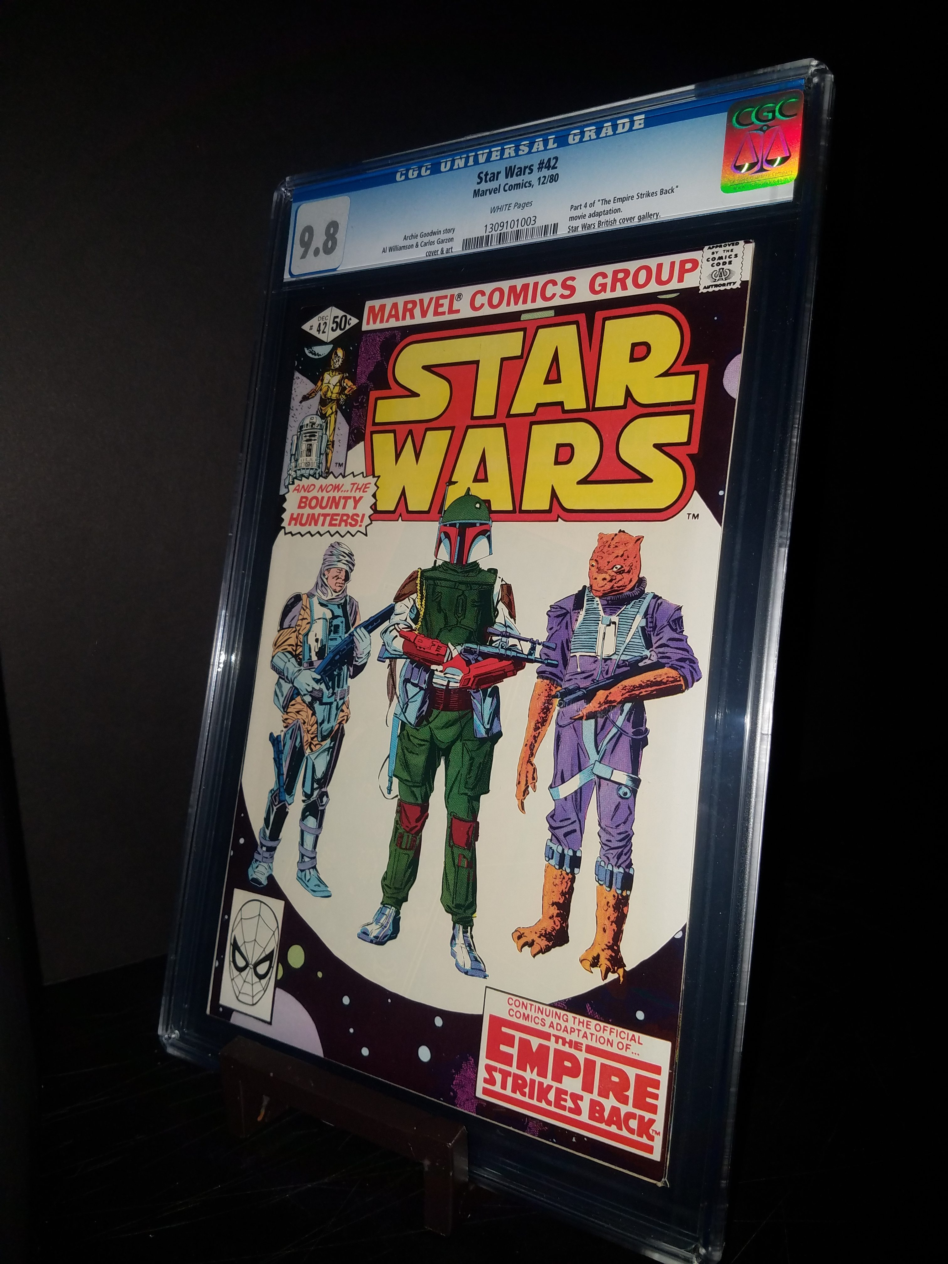 Star Wars #42 CGC 9.8 WP 1st Bobafett