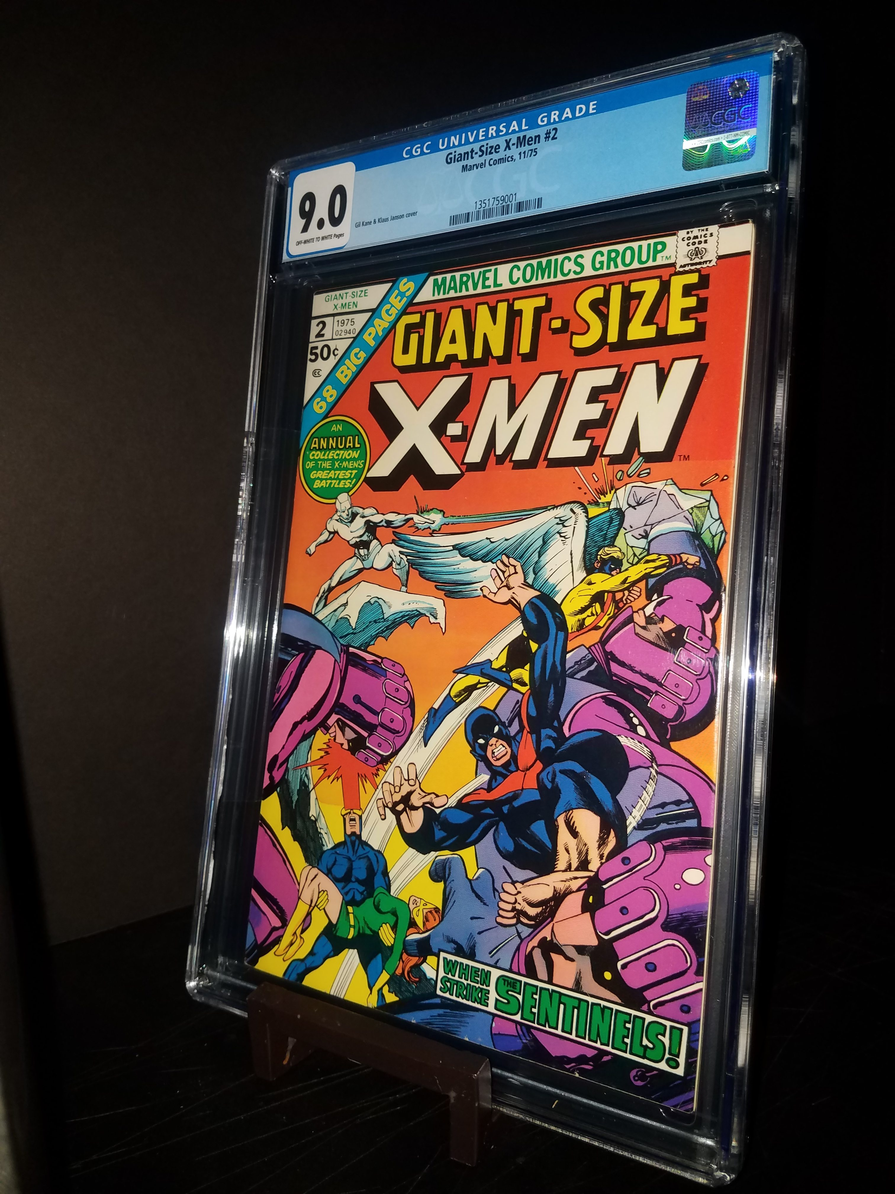 Giant Size X-Men # 2 CGC 9.0 OW/WP