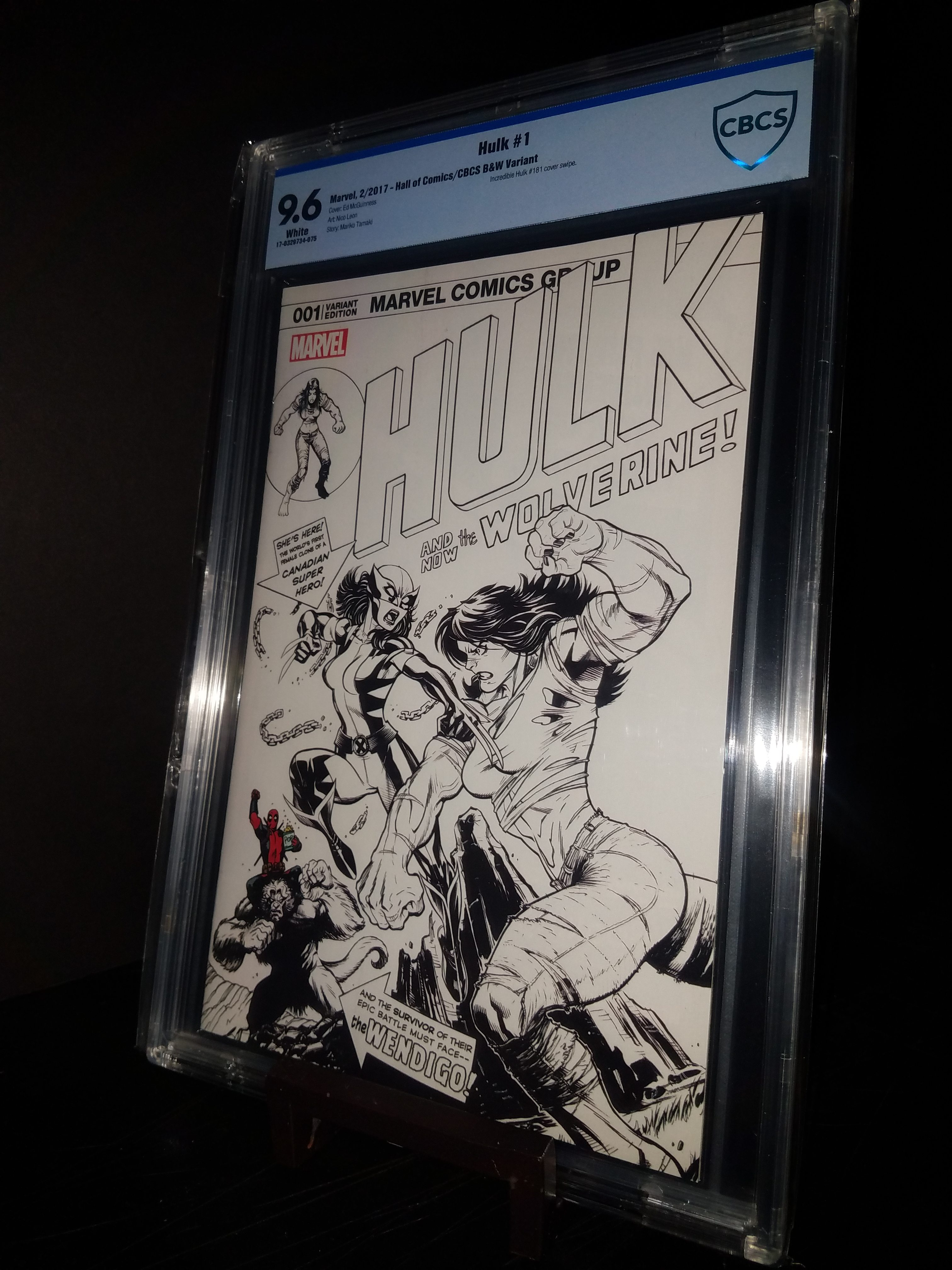 Hulk #1 Cover B CBCS 9.6 WP