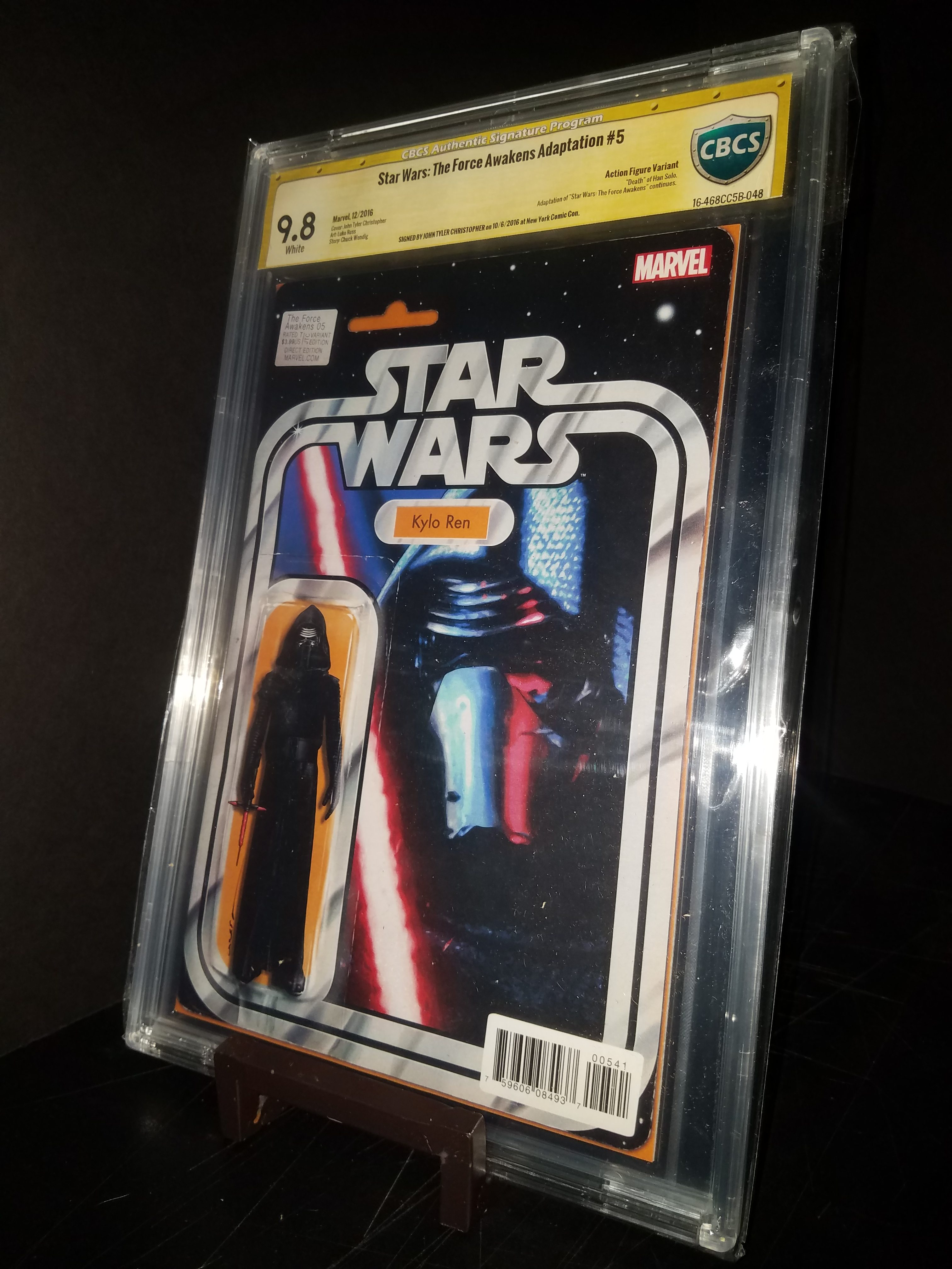 The Force Awakens # 5 CBCS 9.8 SS Kylo Ren Action Figure Variant