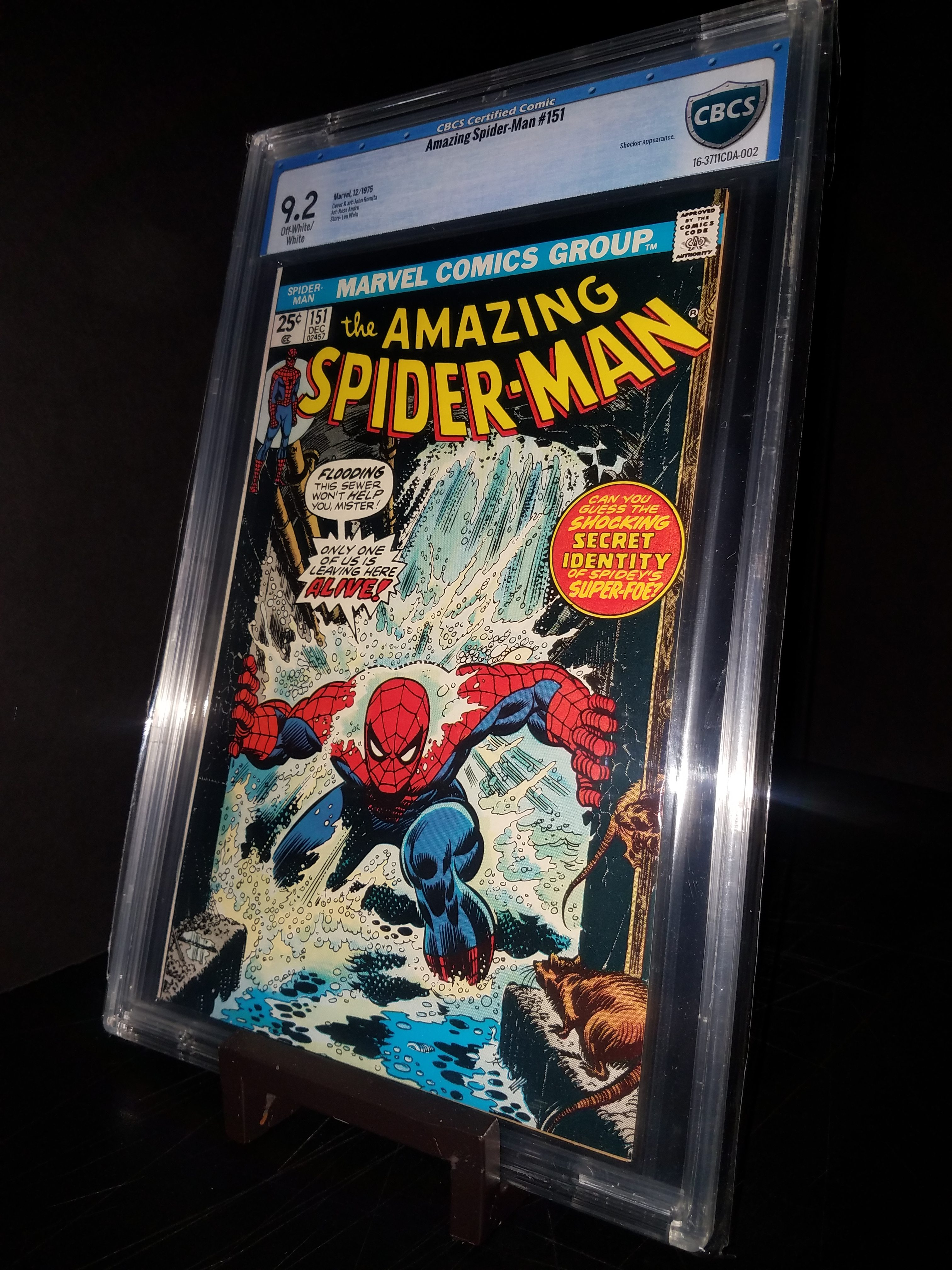 Amazing Spiderman #151 CBCS 9.2 OWP