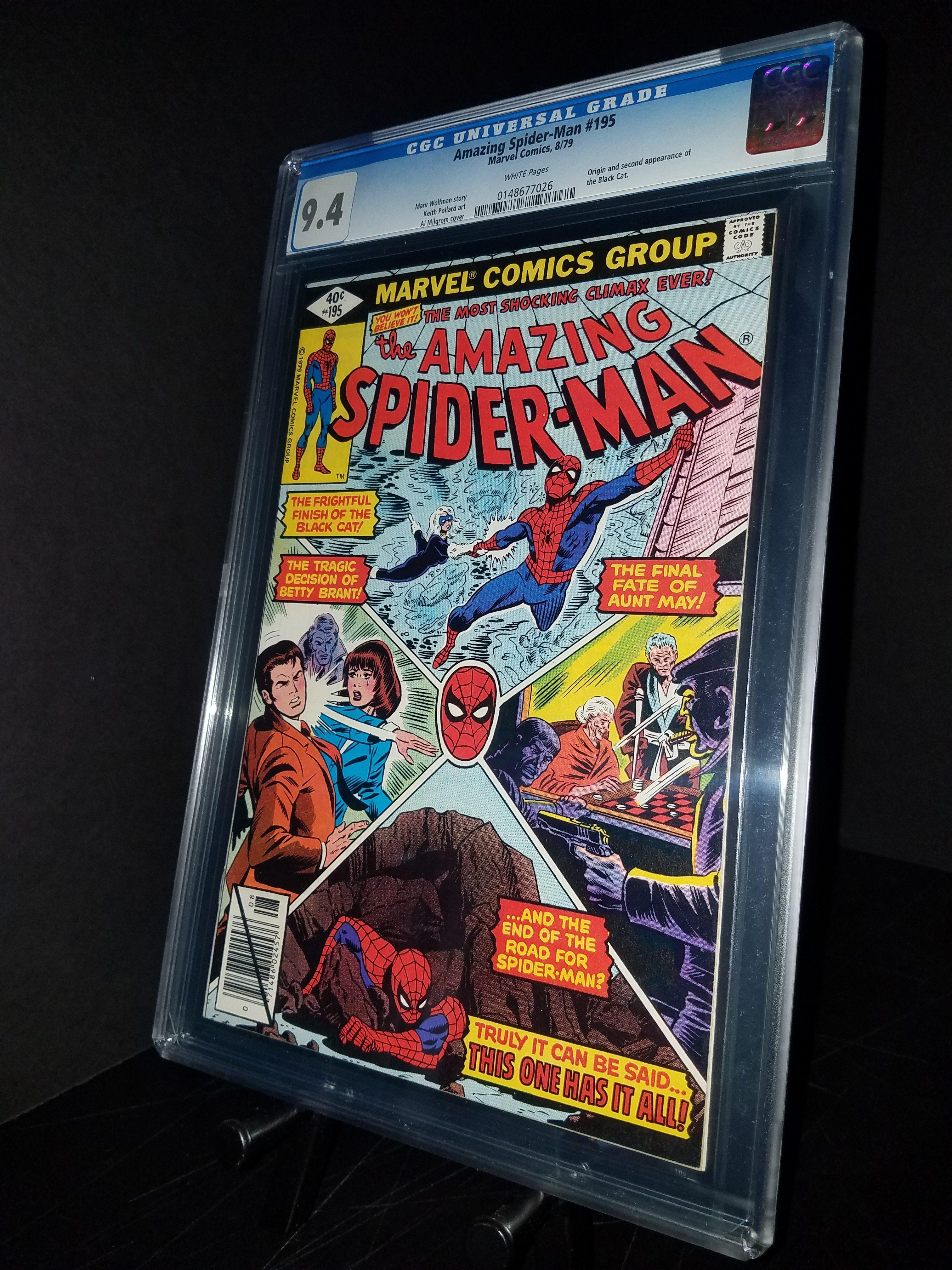 Amazing Spiderman #195 CGC 9.4 WP 2nd Black Cat