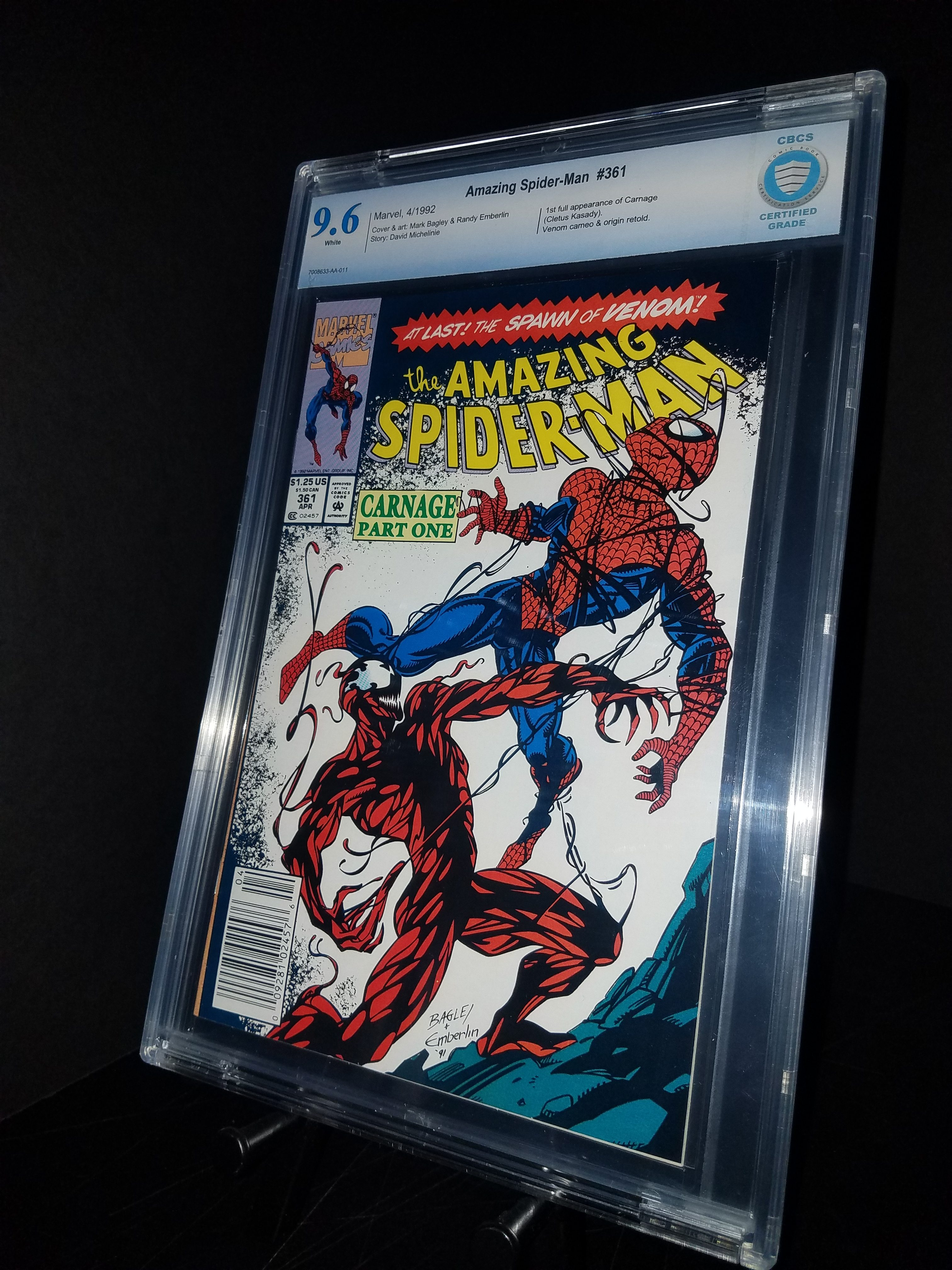 Amazing Spiderman #361 CBCS 9.6 WP 1st Carnage