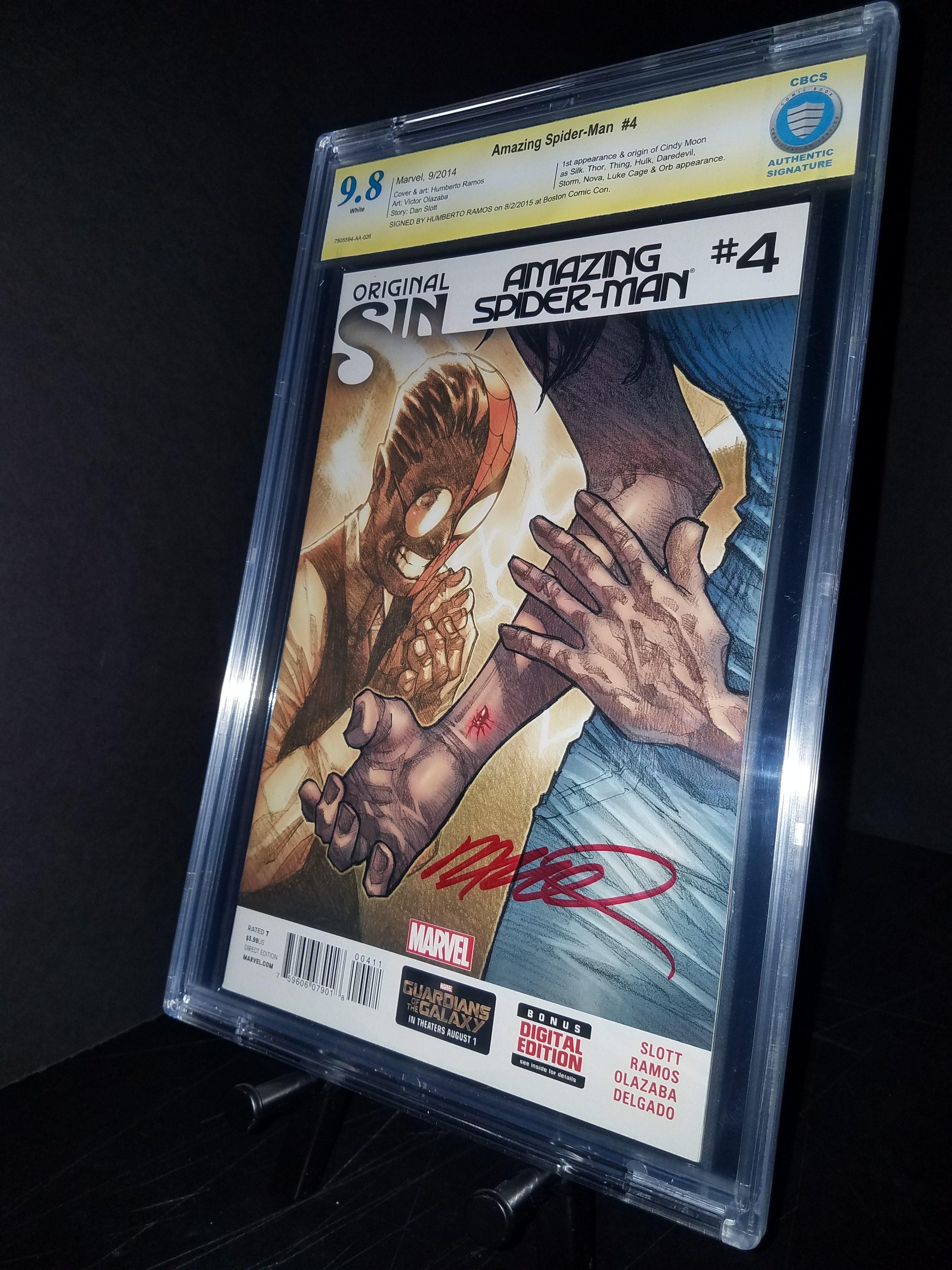 Amazing Spider-Man #4 CBCS 9.8 WP 1st Silk SS Humberto Ramos