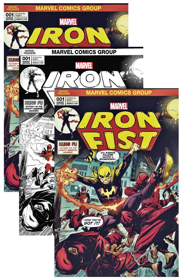 Iron Fist # 1 Cover Set A,B,C Noodle Cover Set
