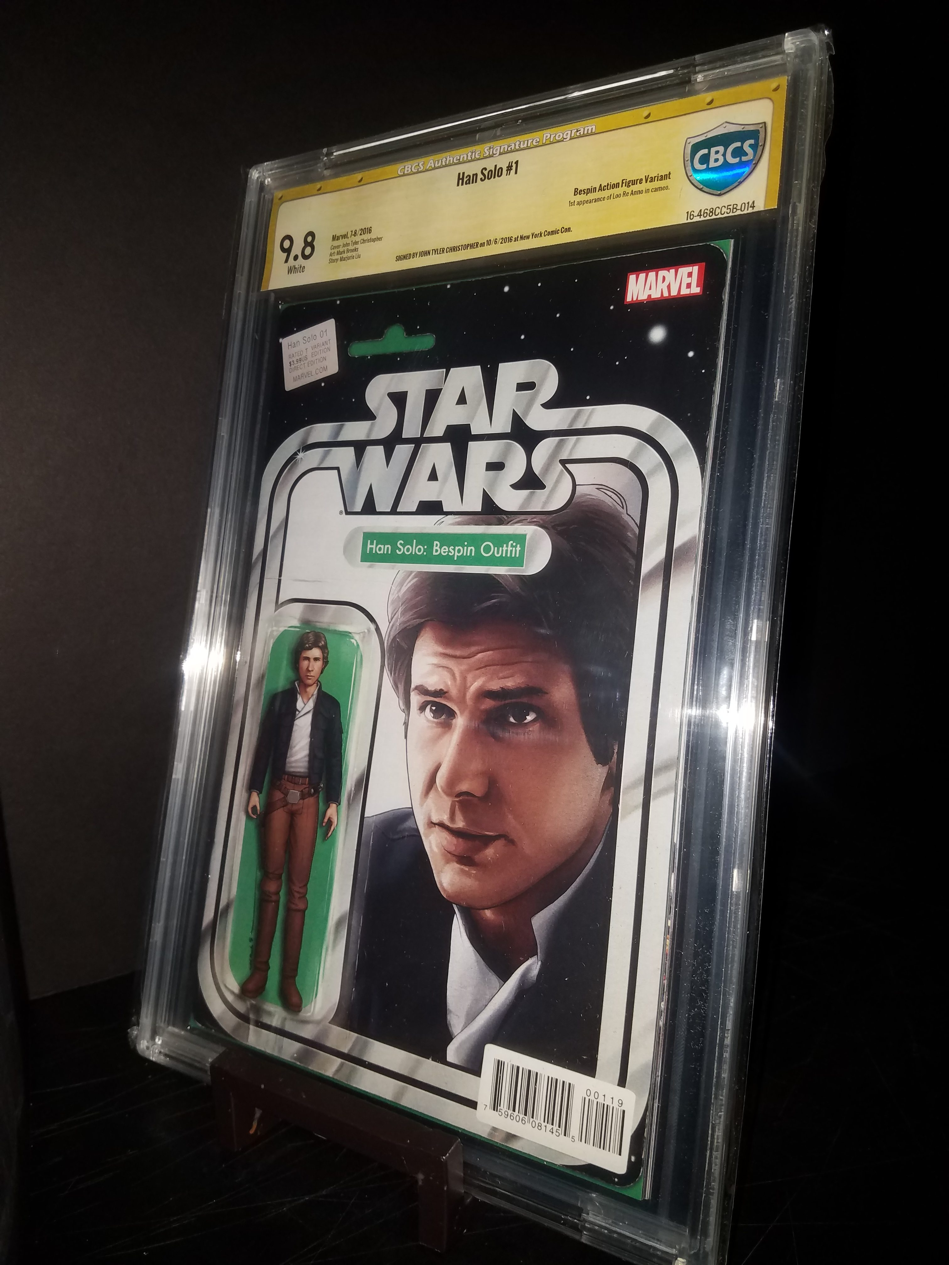 Han Solo # 1 Bespin Outfit Action Figure Variant CBCS 9.8