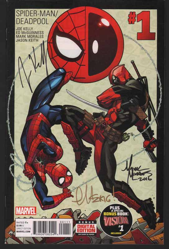 Spiderman / Deadpool # 1 3x Signed