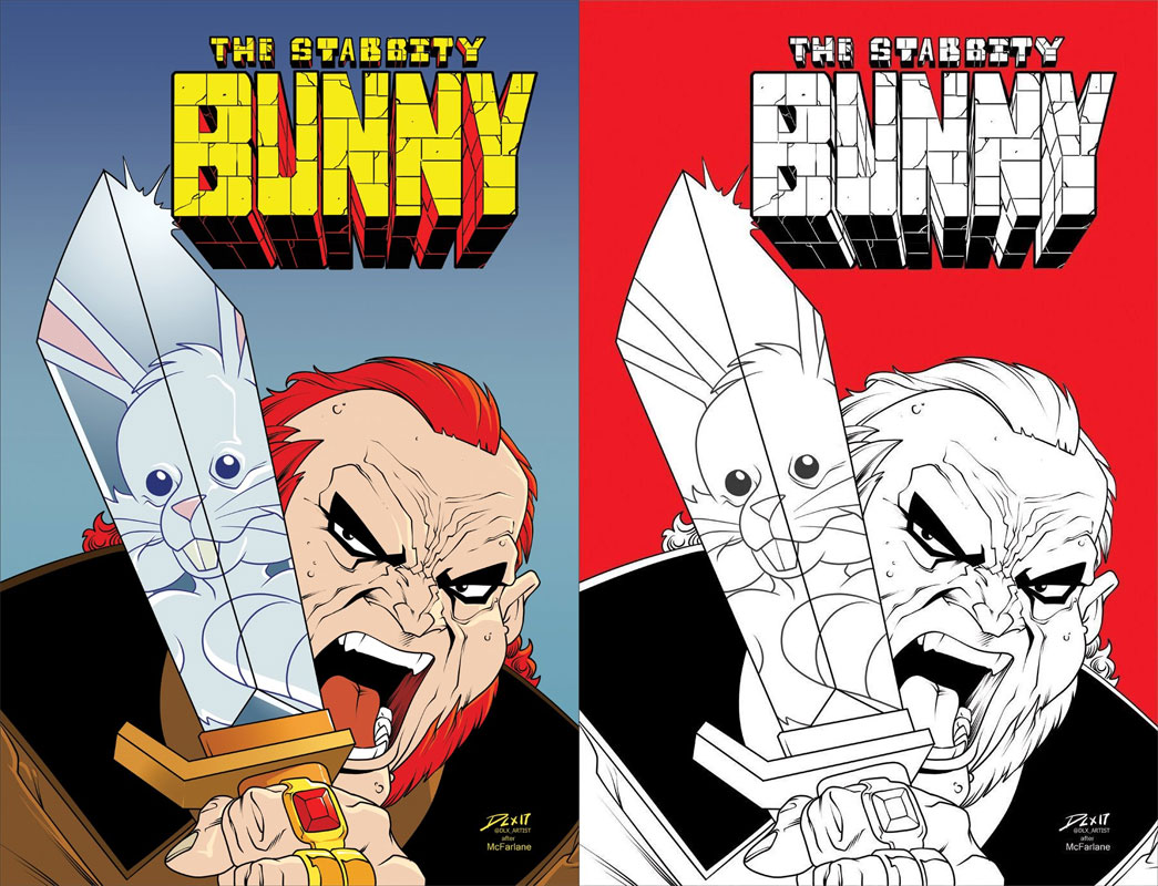 Stabbity Bunny #3 McFarlane Homage Cover A & B Set