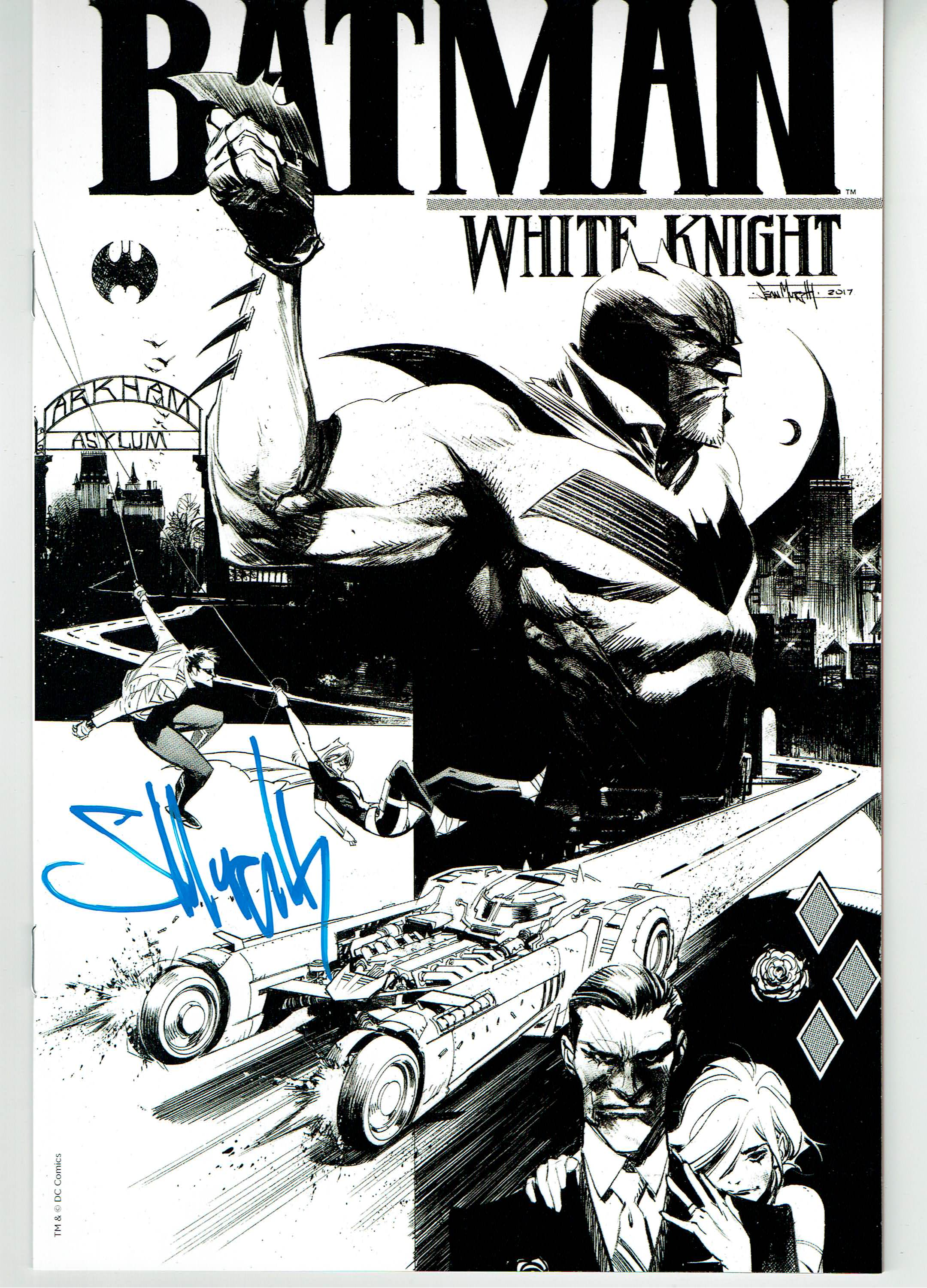Batman: White knight # 1 B&W Autographed