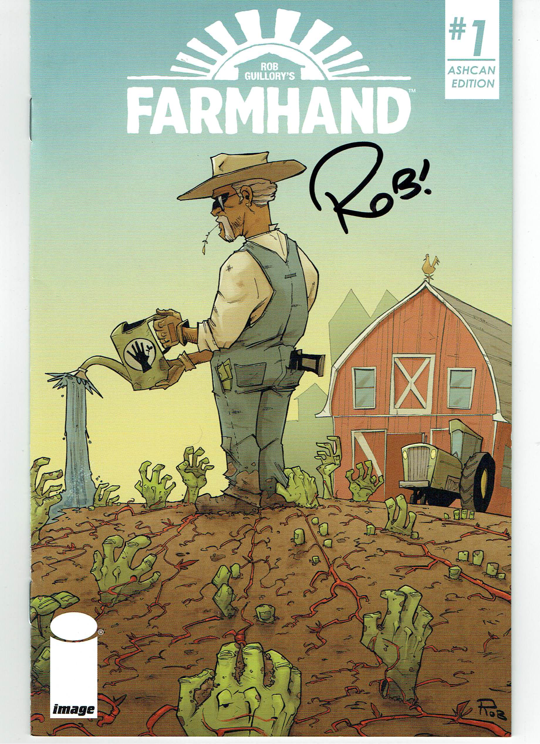 Farm Hand # 1 Ash Can Autographed